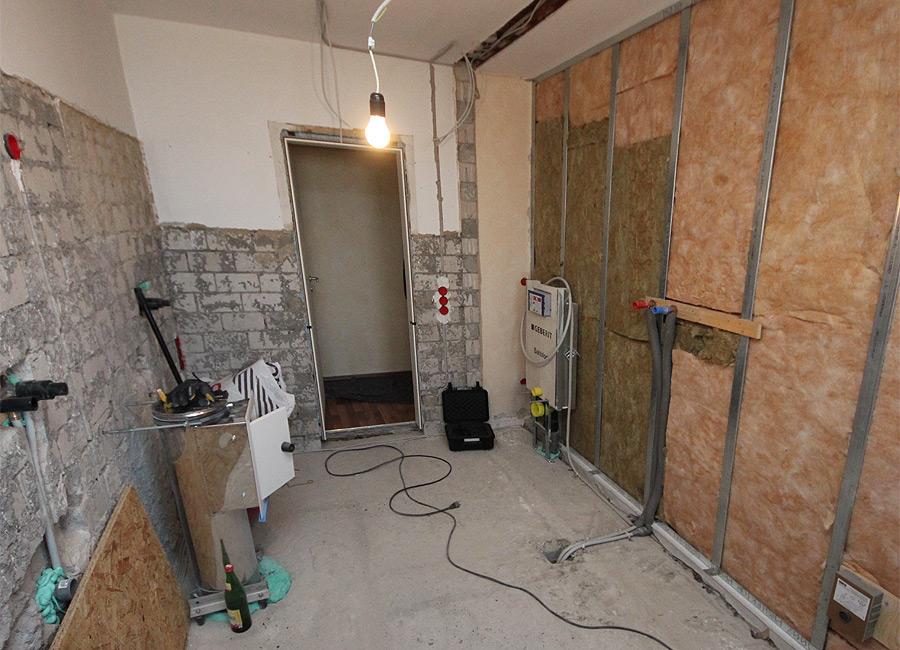 Vom Rohbau zum fertigen Badezimmer - Bad 4